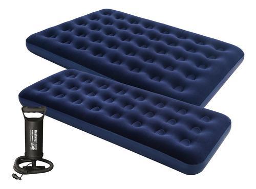Colchón inflable dos 2 plazas + colchón una 1 plaza