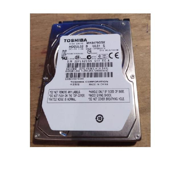 Disco Rigido Sata Notebook Toshiba 640gb Cwin 10