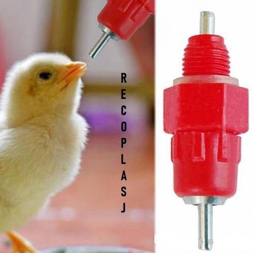 Micro niple para bebedero aves pack 10 unidades