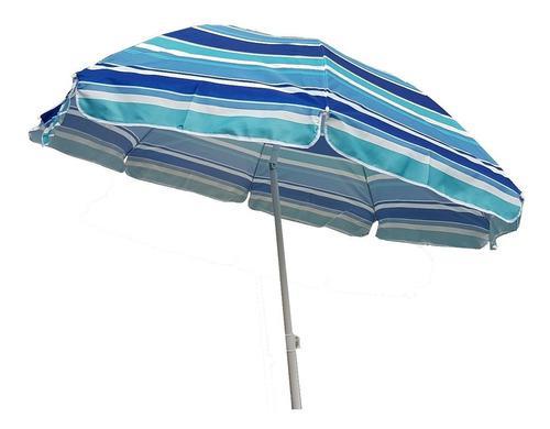 Sombrilla playa 2 metros + soporte saca arena + funda