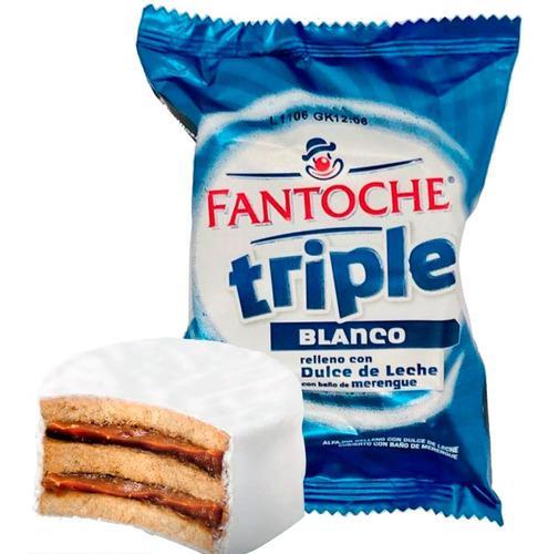 Alfajor fantoche triple blanco dulce de leche x1 unidad 85g