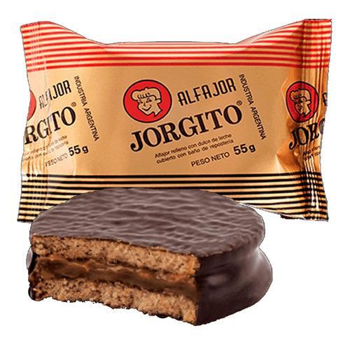 Alfajor jorgito chocolate dulce de leche choco 55g caja x24