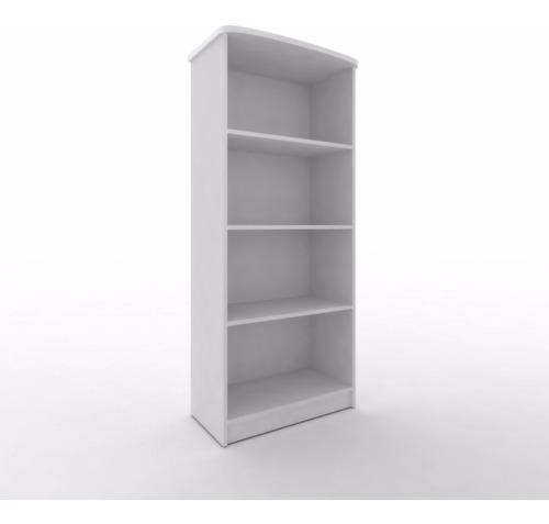 Biblioteca 4 estantes tapa curva color blanco melamina