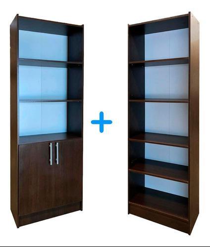 Biblioteca 5 estantes + biblioteca 2 puertas oficina librero