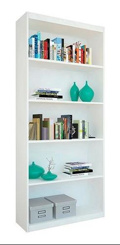 Mueble biblioteca c/5 estantes blanco estudio oficina