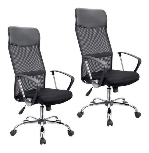 Par sillas oficina escritorio pc computadora ejecutiva x2