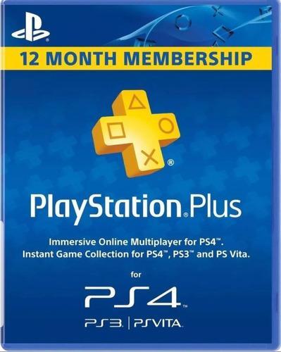 Playstation plus 12 meses! ps3 ps4 ps vita