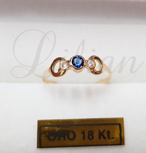 Anillo cintillo casamiento compromiso oro 18k mujer