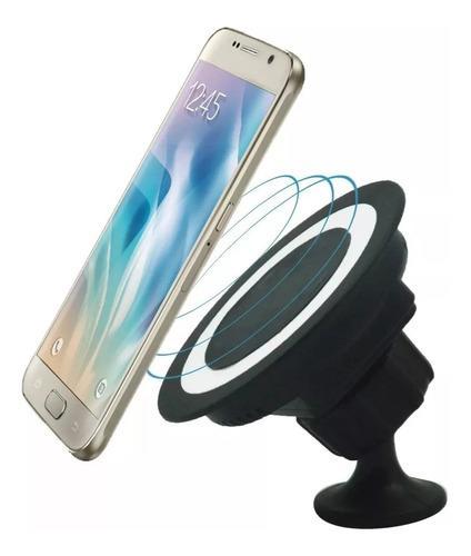 Cargador inalámbrico soporte auto qi samsung s8 iphone plus