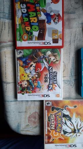 Nintendo 3ds con 3 juegos en caja6 juegos de nintendo ds