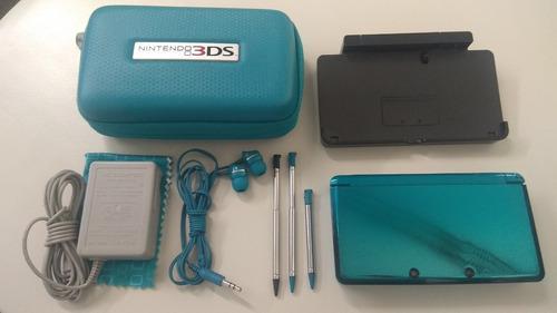 Nintendo 3ds + estuche + base + transformador + juegos