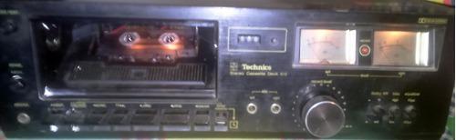 Casettera technics vintage funciona requiere mantenimiento