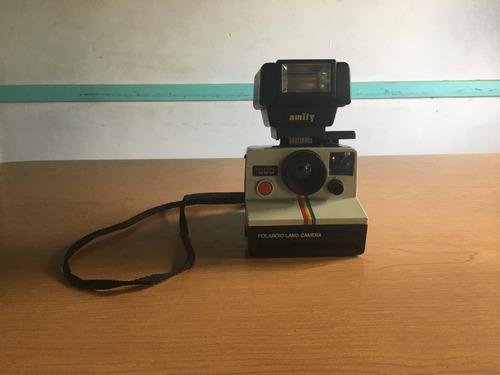 Cámara Instantánea Polaroid 1000 Retro Antigua Con Flash