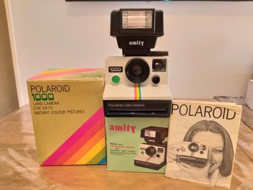 Cámara Polaroid Sx-70 Con Flash