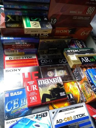Lote 50 cassette audio virgen nuevo tdk sony maxell basf