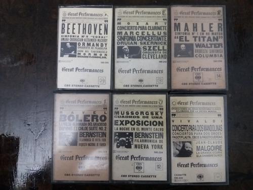 Lote great performances wagner mozart mahler cassette