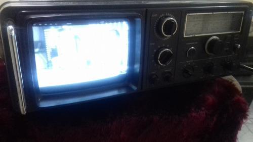Tv radio cassette recorder broksonic japan portatil vintage