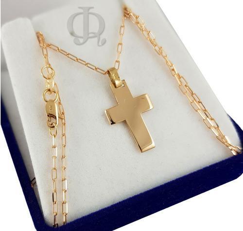 Cadena forcet y cruz maciza oro 18k 45cm 4grs garantia