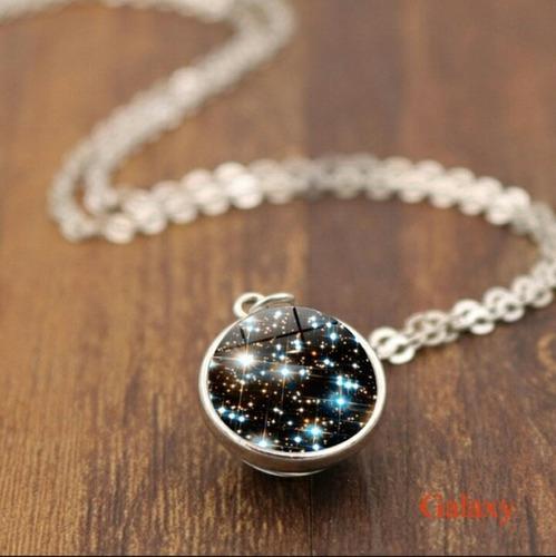 Collar cúmulo de estrellas esfera 16 mm universo