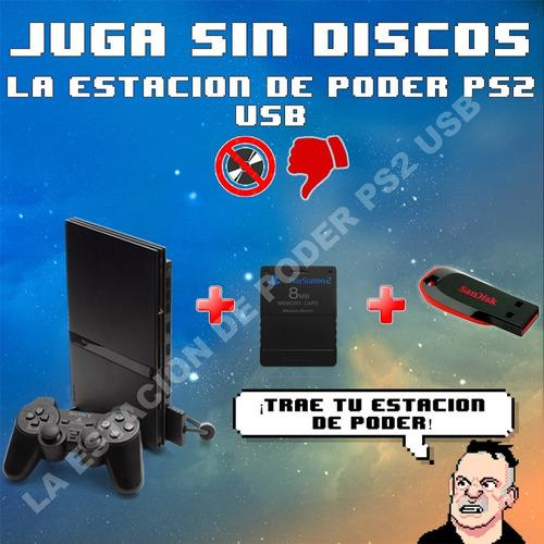 Si tu ps2 no lee juegos entra.juga con usb! free mc boot opl