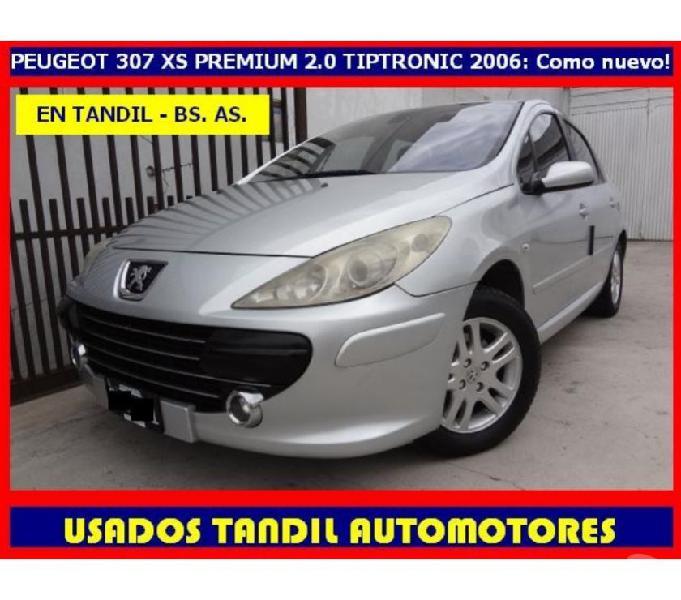 Peugeot 307 xs premium 2.0 4p tiptronic gnc 2006 impecable!