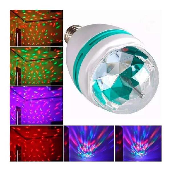 Bola de rayos con luces giratoria colores leds para dj 1.5w