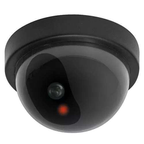 Camara domo de seguridad vigilancia falsa con led rojo
