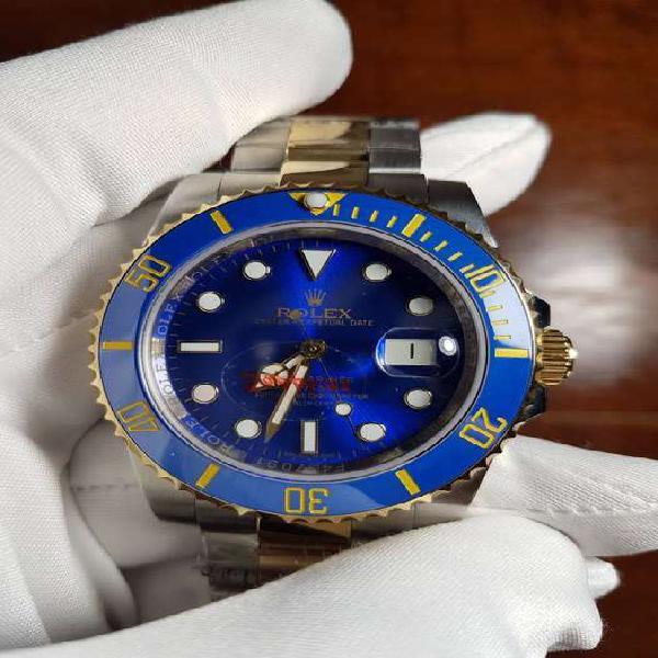 Reloj rolex submariner date 40 mm combinado dial azul