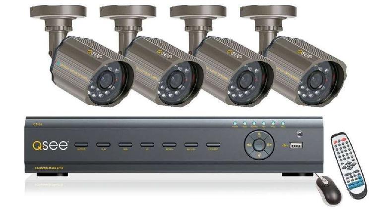 Sistema de vigilancia 4 camaras 8 canales qsee