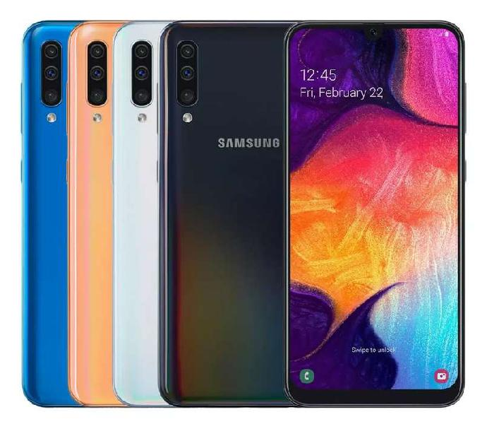 Samsung galaxy a50 libre 64gb ram 4gb infinity-u super