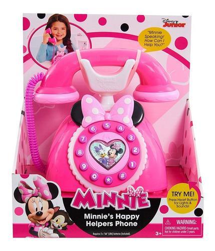 Telefono de minnie con luz sonidos disney original palermo