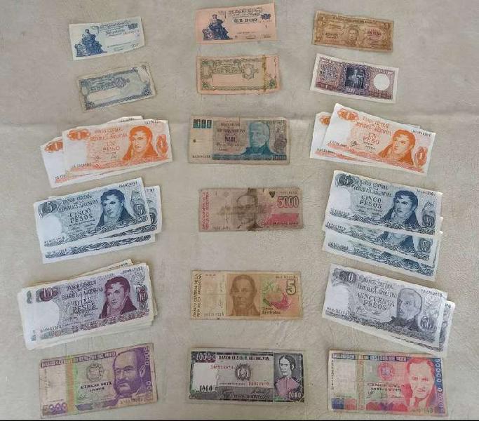 Vendo colección billetes/monedas antiguos($1500)(whatsapp