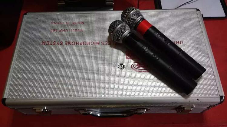 Vendo micrófonos inalambricos uhf doble gbr 300 impecables