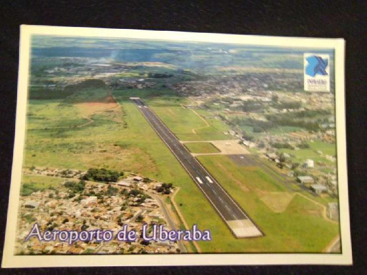 Postal de brasil vista aerea del aeropuerto de uberada