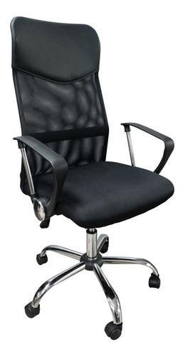 Silla escritorio giratoria base metal basculante 6/12 cuotas
