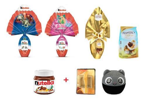 Combo pascua 3 kinder ferrero +eggs+pasta +2 regalos!