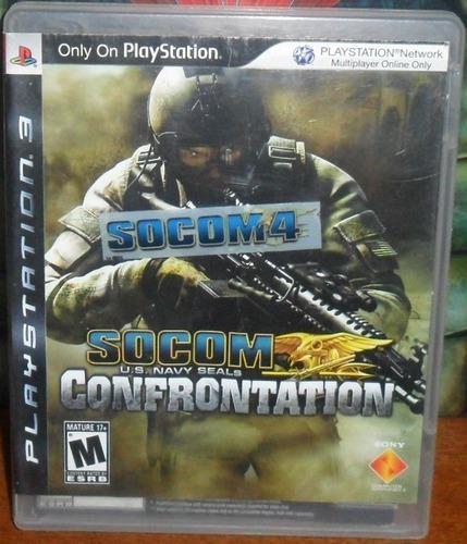 Juego fisico playstation 3 ps3 socom 4 confrontation leer!
