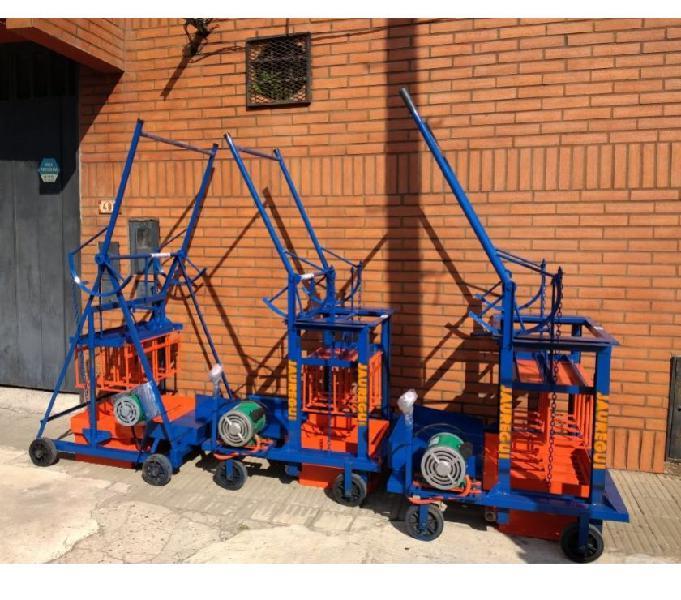 Maquinas para bloques de arena y cemento.