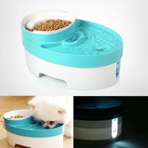 3 en 1 fuente agua animal doméstico para el dispensador