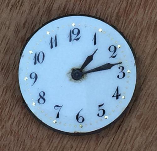 Antigua máquina de reloj suizo con 26 mm de diámetro