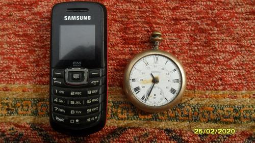 Antiguo reloj de bolsillo f mantello bañado en oro a