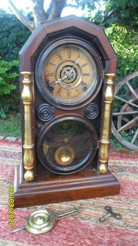 Antiguo reloj de mesa a péndulo estado original 3 cuerdas