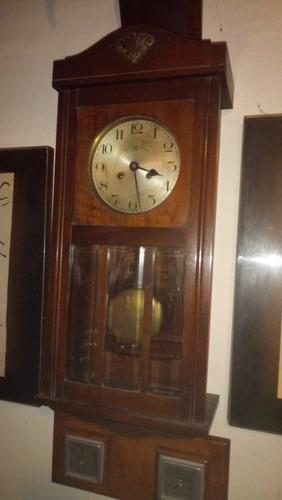 Antiguo reloj de pared haller a.g funcionando