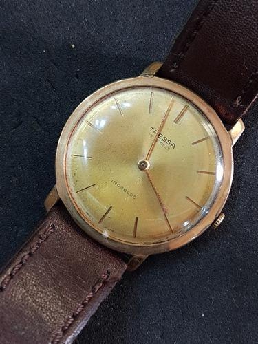 Antiguo reloj tressa suizo 17 jewels cuerda impecable!