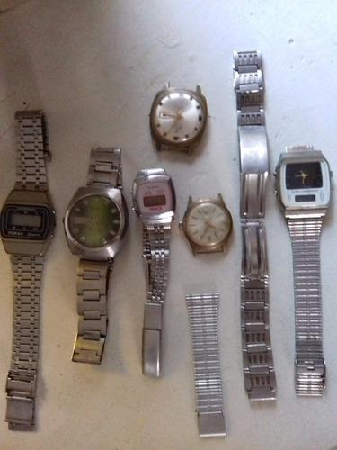 Lote relojes pulsera antiguos (no funcionan)