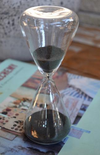 Reloj de arena negra estilo antiguo - 10 minutos