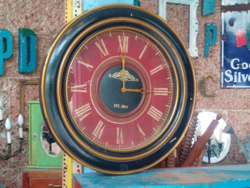 Reloj de pared estilo antiguo vintage muy grande 80 cm diame