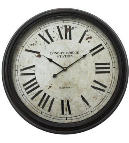 Reloj pared vintage numeros romanos
