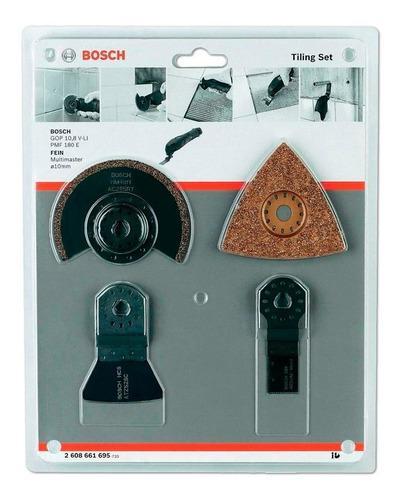 Set kit 4 accesorios multicortadora bosch p/ ceramica gop250
