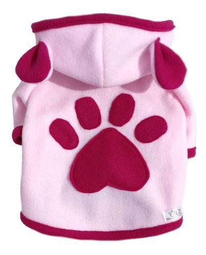 Abrigo buzo con orejitas huella polar perros varios colores